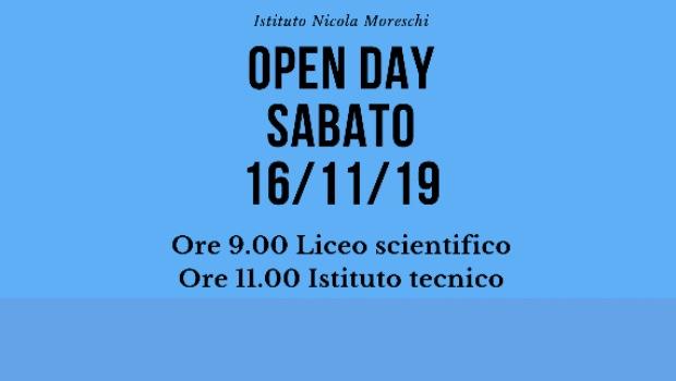 Open Day Moreschi, si parte il 16 novembre