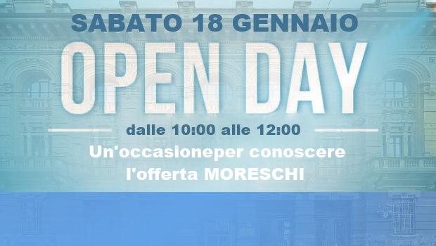 Open Day, appuntamento a gennaio
